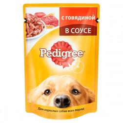 Корм для собак в соусе Pedigree с говядиной для взрослых, 100 гр.