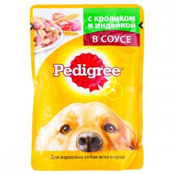 Корм для собак в соусе Pedigree с кроликом и индейкой, 100 гр.