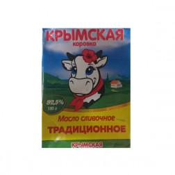 Масло сливочное Традиционное Крымская Коровка, 180гр.