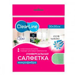 Салфетка универсальная микрофибра Clear Line, 1 шт