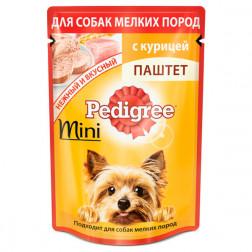 Корм для собак паштет Pedigree mini с курицей, 80 гр.