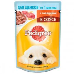 Корм для собак в соусе Pedigree с говядиной для щенков, 85 гр.