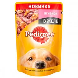 Корм для собак в желе Pedigree с ягненком для взрослых, 100 гр.