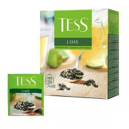Чай TESS Lime зеленый, 100 пак