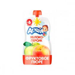 Пюре Агуша яблоко-персик, 90гр