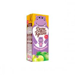 Сок детский Дары Кубани яблоко-виноград, 0,2л.