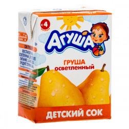 Сок детский Агуша груша, 0,2л.