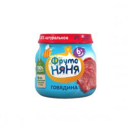 Пюре Фруто Няня говядина, 80 гр