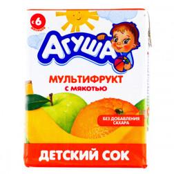 Сок детский Агуша мультифрукт, 0,2л.