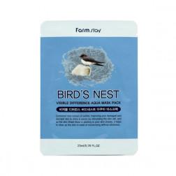 Тканевая маска для лица с экстрактом ласточкиного гнезда Farm Stay, 23 мл.