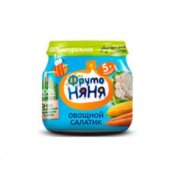 Пюре Фруто Няня овощной салатик, 80 гр