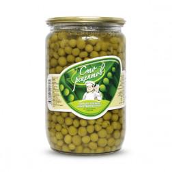 Горошек Сто Рецептов зеленый из мозговых сортов 650гр.