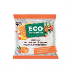 Карамель Eco Botanica с экстрактом облепихи, медом и витаминами, 150 г