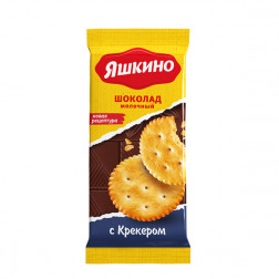 Шоколад Яшкино молочный с Крекером, 90 гр.
