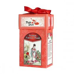 Чай Китайский Зеленая улитка с розой 100гр.