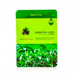 Тканевая маска для лица с экстрактом семян зеленого чая Farm Stay, 23 мл.