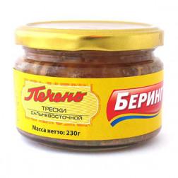 Печень трески Беринг Дальневосточная, 230 гр.