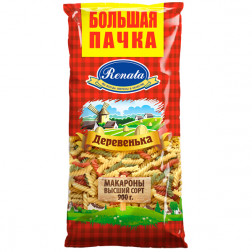 Макароны фигурные Деревенька Рената в/с, 900 гр.
