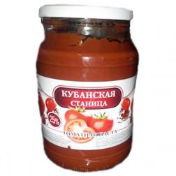Томатная паста Кубанская станица, 1000 гр.