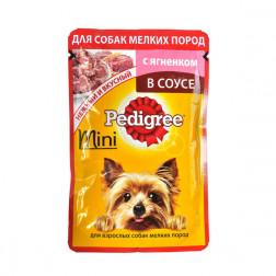 Корм для собак Pedigree mini в соусе с ягненком, 85 гр.