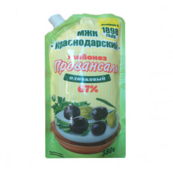 Майонез МЖК, Краснодарский  оливковый 67%, 380 гр.