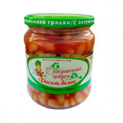 Фасоль белая в томатном соусе «С бабушкиной грядки», 480гр.