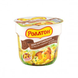 Пюре картофельное Роллтон со вкусом жареных лисичек со сметаной 40гр.