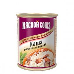 Каша рисовая с говядиной в ас-те  340гр.
