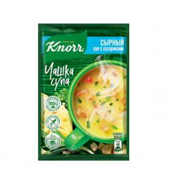 Суп сырный Knorr Чашка супа с сухариками 15,6гр.